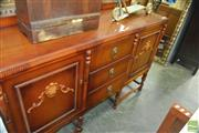 Sale 8383 - Lot 1301 - Timber Sideboard with Two Doors & Three Central Drawers