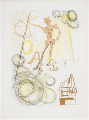 Sale 8492A - Lot 5010 - Salvador Dali (1904 - 1989) - The Linotype Machine, c1975 50 x 36cm