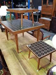 Sale 8562 - Lot 1021 - Suite of Four Varied Side Tables