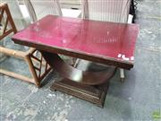 Sale 8601 - Lot 1521 - Glass Top Side Table