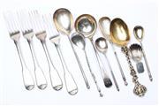 Sale 8729 - Lot 94 - Melange of Steling Silver Flatware