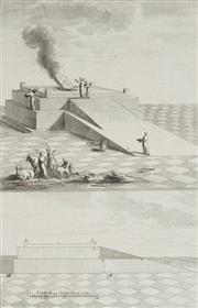 Sale 8870 - Lot 2049 - Antoine Augustin Calmet (1672 - 1757) - Veue et Profil de lAutel des Holocausts 30 x 19.5cm