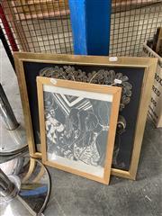 Sale 8932 - Lot 2076 - 2 Works: J. Ranke - The King Arrives, print, SLR & Another African Scene