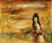 Sale 8992 - Lot 568 - William Drew (1928 - 1983) - Demeter, Goddess of the Harvest 49 x 59 cm (frame: 62 x 72 x 3 cm)