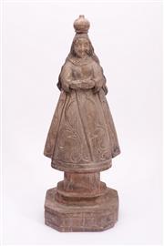 Sale 9015C - Lot 751 - Large timber carved santo figure (H52cm)