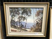 Sale 9024 - Lot 2040 - John Emmett (1927 - ) Blackheath, Blue Mountains oil on board, 25 x 31cm (frame) signed lower left -