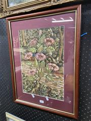 Sale 9041 - Lot 2089 - Wayan Dolik, Balinese Garden, watercolour signed, 38x26cm -