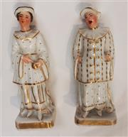 Sale 8319 - Lot 219 - Pair of French porcelain figural perfume bottles by Jacob Petit