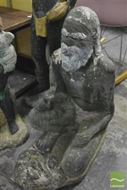 Sale 8364 - Lot 1049 - Large Vintage Concrete Aboriginal Elder