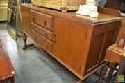 Sale 8383 - Lot 1295 - Timber Sideboard with Three Central Drawers & Two Doors
