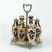 Sale 8412A - Lot 60 - Imari Patern Cruet Set height - 25.5cm