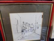Sale 8437 - Lot 2027 - Ric Elliot (1933 - 1995) - East Sydney Lane Way 15 x 15cm