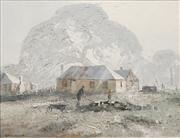 Sale 8583 - Lot 588 - Colin Parker (1941 - ) - The Woodsplitter, Barossa Valley 39.5 x 49.5cm