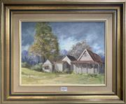 Sale 8668 - Lot 2015 - Judy Anne Everingham - Salamander Farmhouse After the Storm, oil on canvas board, 46.5 x 56.5cm (frame size), s.l.r