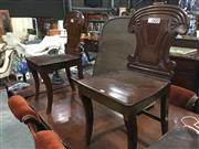 Sale 8724 - Lot 1024 - Pair Of Mahogany Hall Chairs