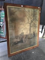 Sale 8754 - Lot 2053 - The Ivel Agricultural Motor, early print c1904, frame size: 84 x 69