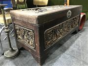 Sale 8805 - Lot 1043 - Carved Camphor Trunk