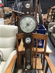 Sale 8817 - Lot 1065 - Timber Cased Barometer