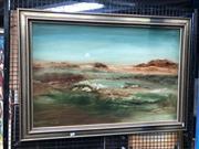 Sale 8833 - Lot 2052 - Norman Robins - Evening Hue Oil On Board (105 x 104.5cm Frame) Signed