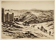 Sale 9047 - Lot 584 - Lionel Lindsay (1874 - 1961) - Avila, Spain 22.5 x 31.5 cm (frame: 39 x 49 x 2 cm)