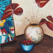 Sale 9042A - Lot 5063 - Joy Lieber - Chinese Vase 60 x 60 cm
