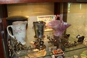 Sale 8288 - Lot 85 - Brass Piano Sconces with Other Wares incl Stamps