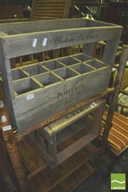 Sale 8371 - Lot 1058 - Pair of French Style Bottle Crates