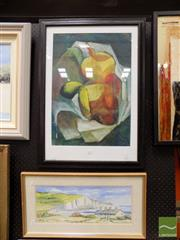 Sale 8458 - Lot 2056 - (2 works) Artist Unknown Still Life gouache; Marilyn Dewar Landscape, watercolour, (framed/various sizes)