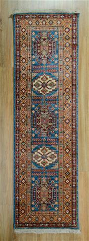 Sale 8672C - Lot 49 - Afghan Super Kazak 190cm x 59cm