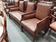 Sale 8700 - Lot 1037 - Mahogany Seven Piece Parlour Suite