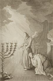 Sale 8870 - Lot 2050 - Antoine Augustin Calmet (1672 - 1757) - David Consultant le Grand Pretre par lurim et Thummin 29.5 x 19cm