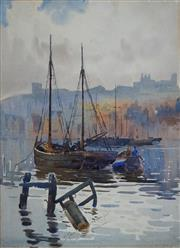Sale 8867A - Lot 5016 - Edward Enoch Anderson RA (1878-1961) - Whitby Harbour, North Yorkshire (1900) 36.5 x 26.5cm
