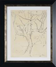Sale 8908A - Lot 5033 - Desiderius Orban (1884 - 1986) - Untitled (The Tree) 36 x 26 cm
