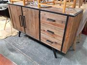 Sale 8912 - Lot 1035 - Rustic 2 Door Sideboard with 3 Drawers