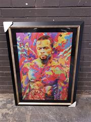 Sale 8964 - Lot 2090 - Roy Jones Jr - Artist Unknown (H:113 x W:85cm)
