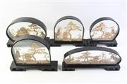 Sale 8997A - Lot 653 - Collection of five cork dioramas (average height 22cm)