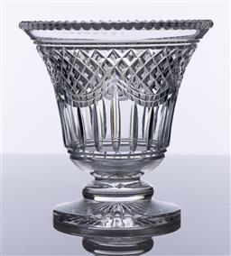Sale 9245R - Lot 16 - Excellent quality English Stuart hand cut lead crystal vase C: 1930s, Ht: 15.5cm