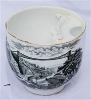 Sale 8319 - Lot 220 - Victorian moustache cup featuring Clifton Suspension Bridge