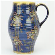 Sale 8379 - Lot 70 - Crown Devon Fieldings Blue Royale Jug