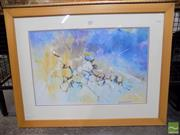 Sale 8407T - Lot 2095 - George Courtney (XX) - Rockfall 40 x 62cm