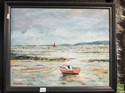 Sale 8458 - Lot 2020 - W J Beckett (XX) - Coastal Scene 39.5 x 49.5cm