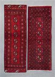 Sale 8499C - Lot 90 - 2 x Afghan Turkman 145cm x 54cm