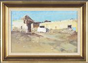 Sale 8771 - Lot 2040 - Donald Cameron - Arab Dwelling in the Shadow of the Period oil on canvas board, 31 x 44cm, signed -
