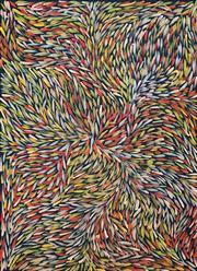 Sale 8895A - Lot 5033 - Jeannie Petyarre (1956 - ) - Bush Yam Leaves 99 x 72 cm