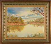 Sale 8945 - Lot 2014 - John Dynon (1954 - ) - Murray Steamer to Wentworth, 1986 39.5 x 50 cm (frame: 58 x 67 x 4 cm)