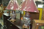 Sale 8331 - Lot 1063 - Pair of Satsuma Style Table lamps (4151)