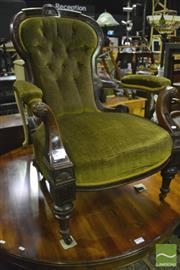 Sale 8368 - Lot 1096 - Mahogany inlaid armchair.