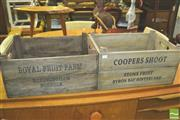 Sale 8371 - Lot 1029 - Pair of French Style Fruit Crates