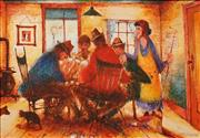 Sale 8633 - Lot 574 - Eris Fleming (1943 - ) - Poker Game on Saturday 34.5 x 50cm