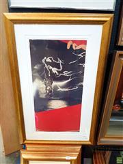 Sale 8627 - Lot 2002 - Brett Whiteley Decorative Print from American Dream 1969 series, 85 x 56cm (frame size)